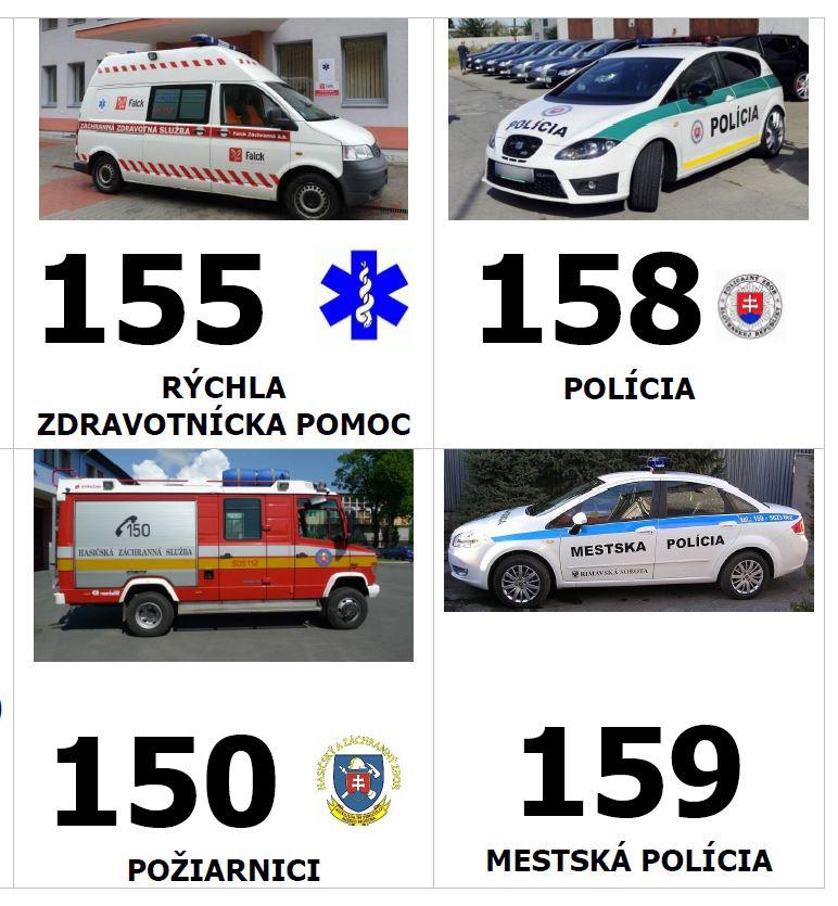 SOS čísla, povinná výbava do auta