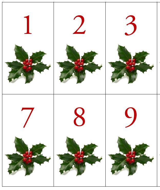 Čísla na adventný kalendár