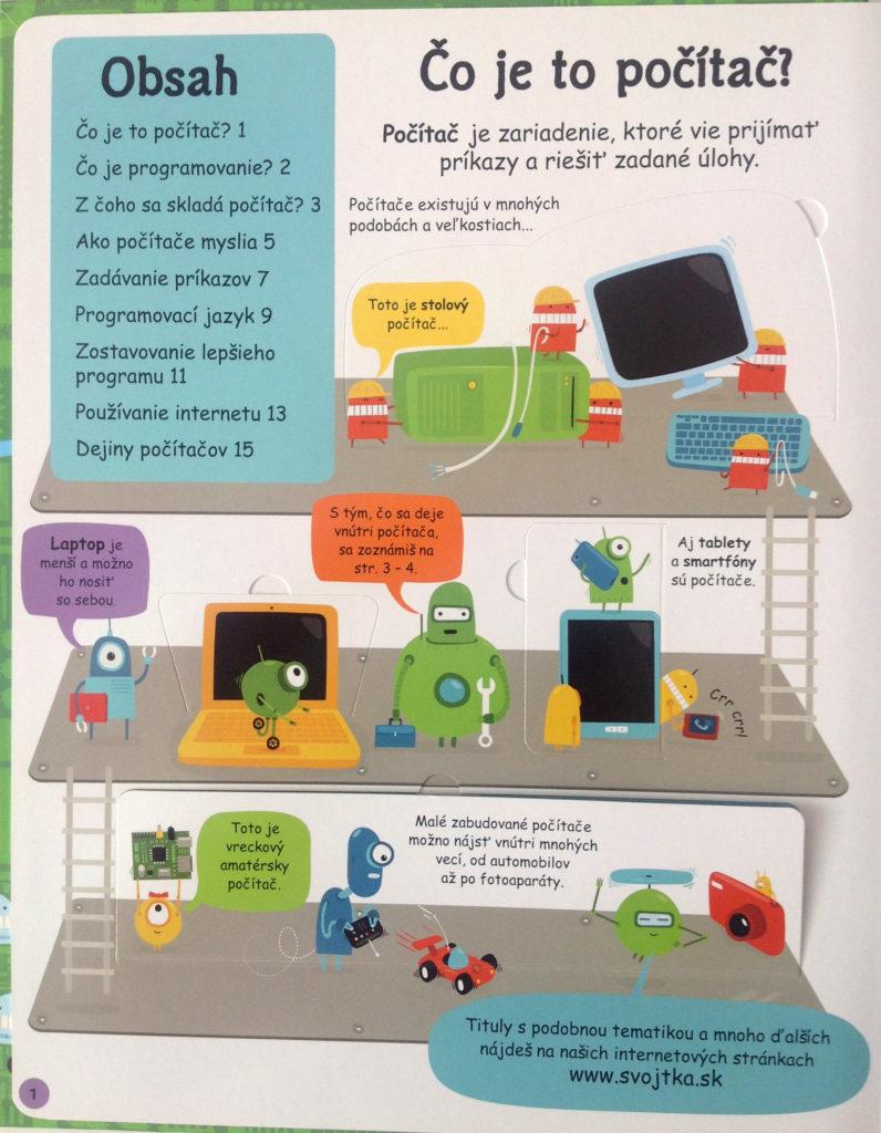 Okienková knižka pre deti o programovaní, knižka pre deti 6-10 rokov