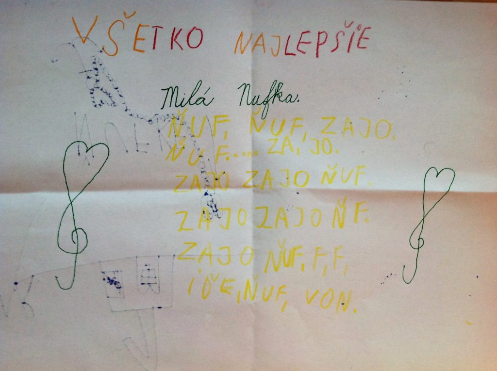 Mrkvičkovci 2017 Zajulko má narodeniny - pohľadnica pre neho