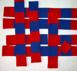 Červeno-modré metre
