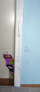 Montessori tyče - primeriavanie