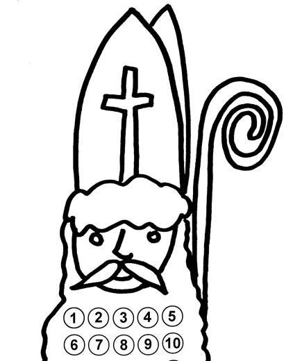 Mikuláš - nalepovací kalendár