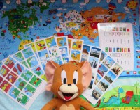 Vlajky sveta, mapa sveta, detska mapa sveta